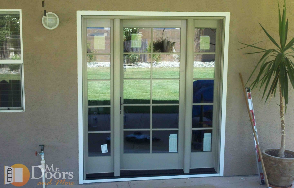 Mr doors and more inc sliding patio door to hinged for Sliding patio door replacement